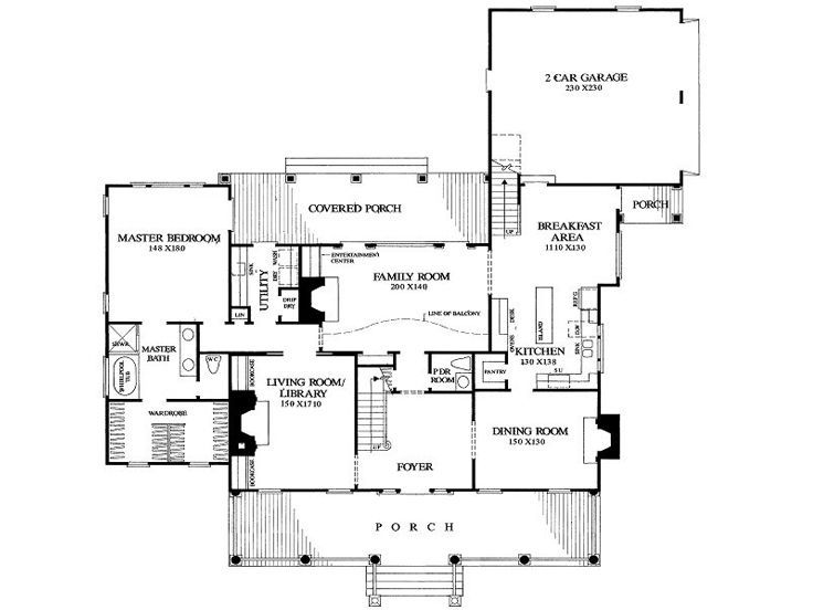 Pin By Roger Wittlerr On House Plans House Plans Floor Plan Design Colonial House Plans