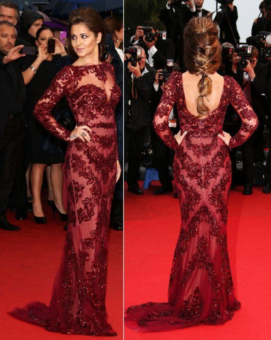 Hairstyles For Long Sleeve Dresses Google Search Celebrity Dresses Long Sleeve Evening Dresses Lace Evening Gowns