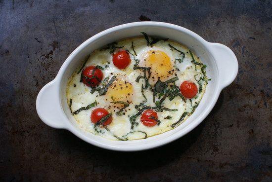 Caprese Baked Eggs from Becky Tarala