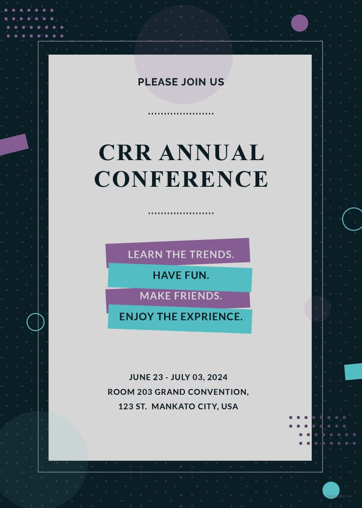 free conference invitation free designs pinterest conference