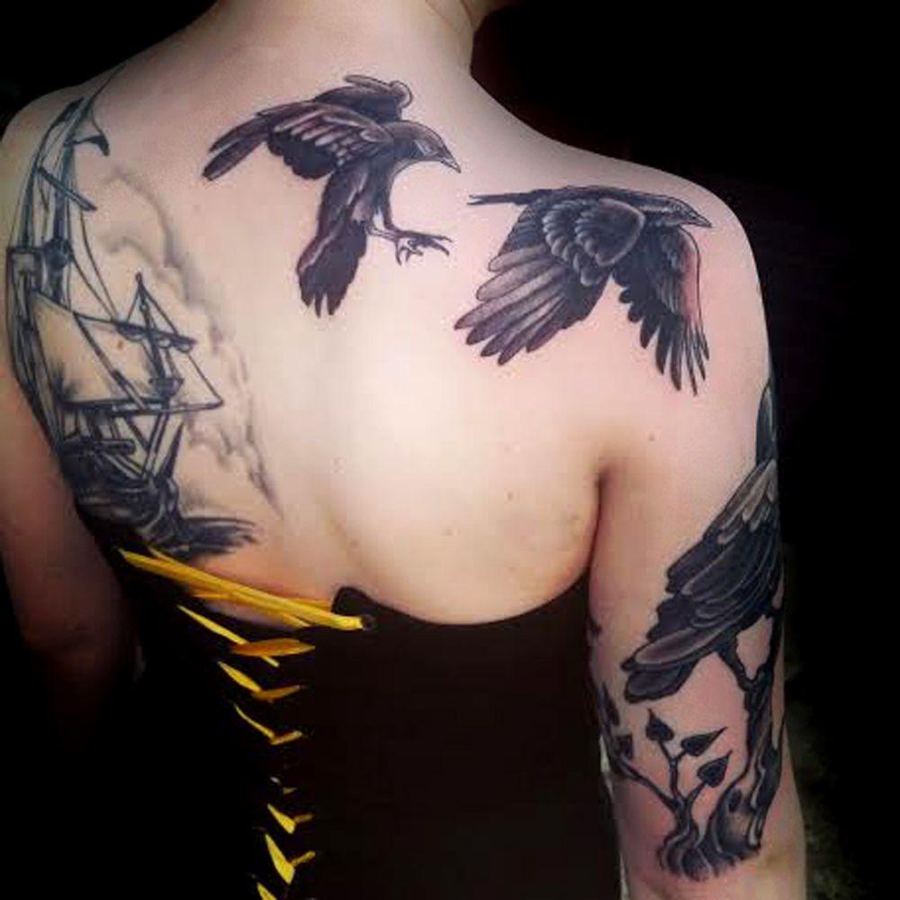 Katie tattoo jackalope tattoo all women run tattoo