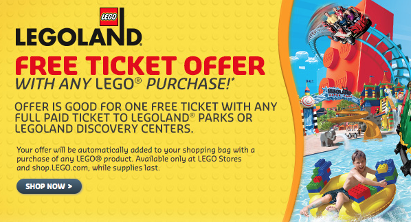 Buy One Get One Free Legoland Tickets With Lego Shop Purchase Summer Fun For Kids Legoland Get One