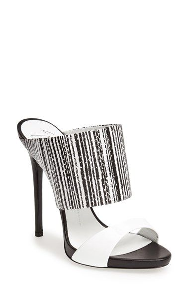 Free shipping and returns on Giuseppe Zanotti Leather Mule (Women) at Nordstrom.com. A barcode-print cuff adds modern attitude to a striking mule lifted by a sky-high heel.