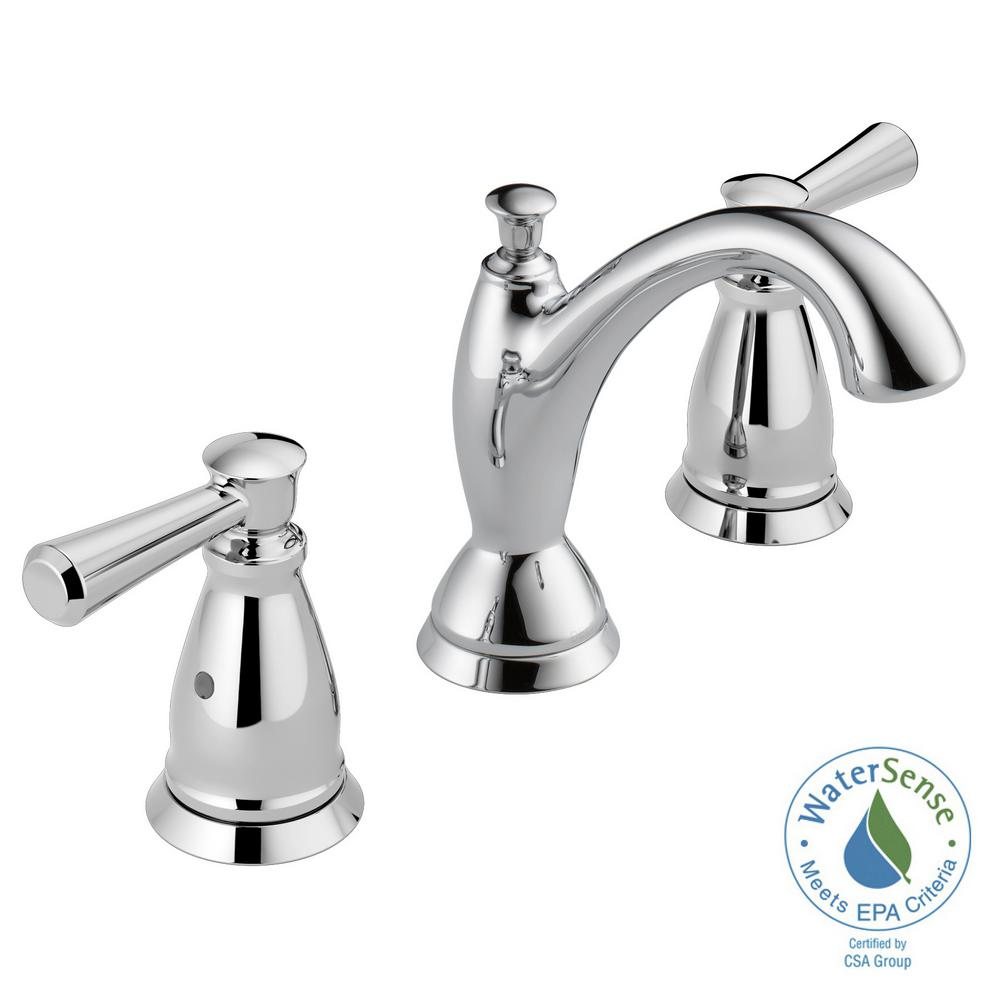 Delta Linden 8 In Widespread 2 Handle Bathroom Faucet In Chrome 3593 Mpu Dst The Home Depot Bathroom Faucets Delta Faucets Widespread Bathroom Faucet [ 1000 x 1000 Pixel ]