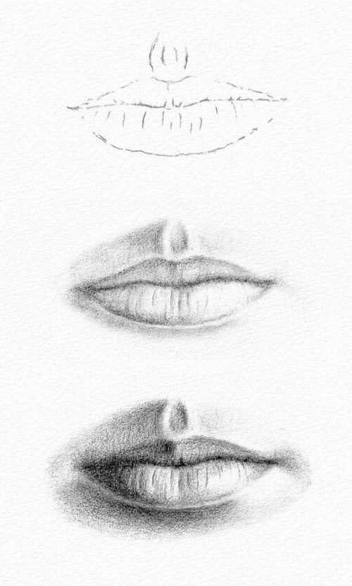 Wie zeichnet man einen Mund?   - Madison Turner -  #einen #Madison #man #Mund #Turner #wie #zeichnet #pencildrawingtutorials
