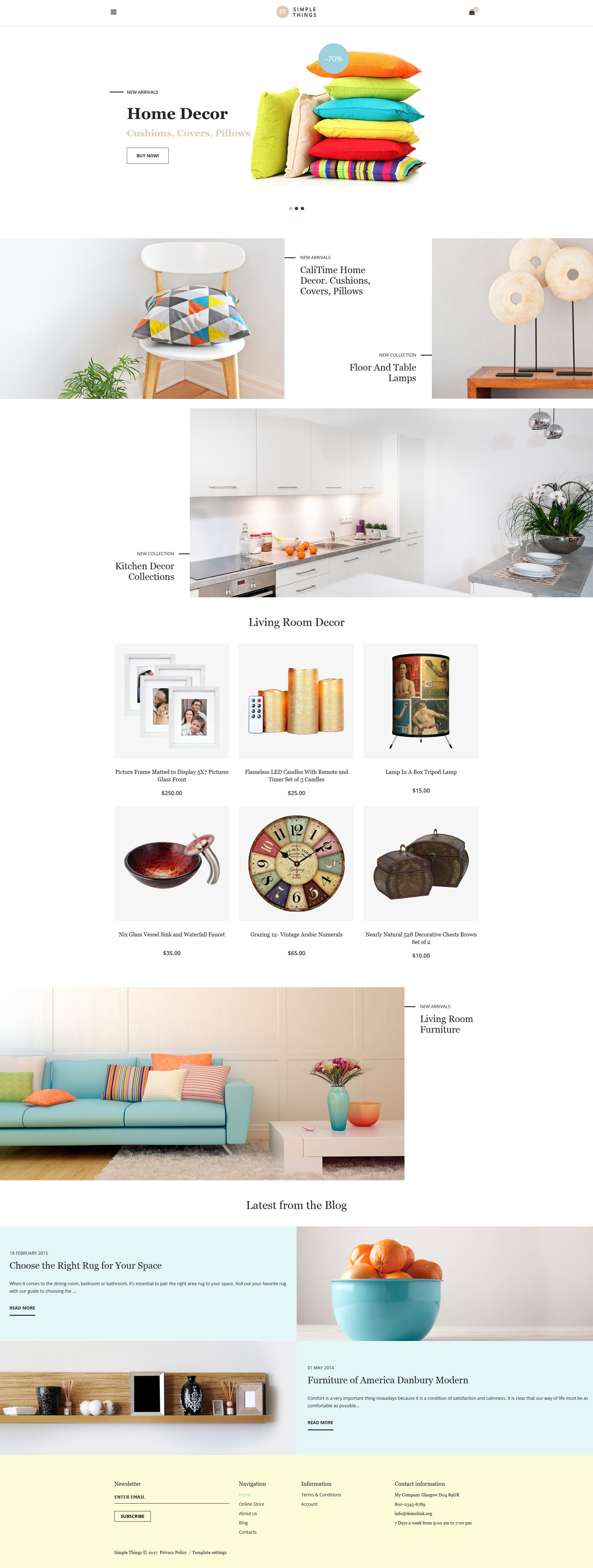 home decor responsive virtuemart template template ui ux and
