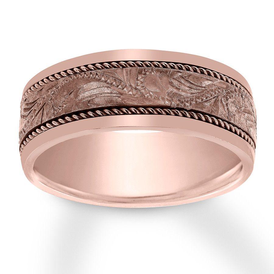 Men S Wedding Band 14k Rose Gold 8mm 12047640799 Jared Mens Wedding Bands Wedding Bands For Him Buy Wedding Rings