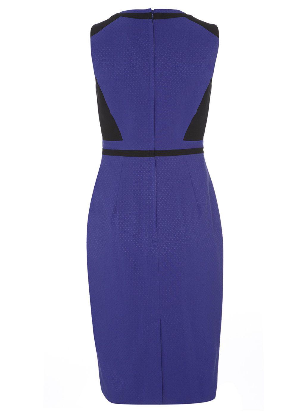 Tall Cobalt and Black Pencil Dress - Dorothy Perkins