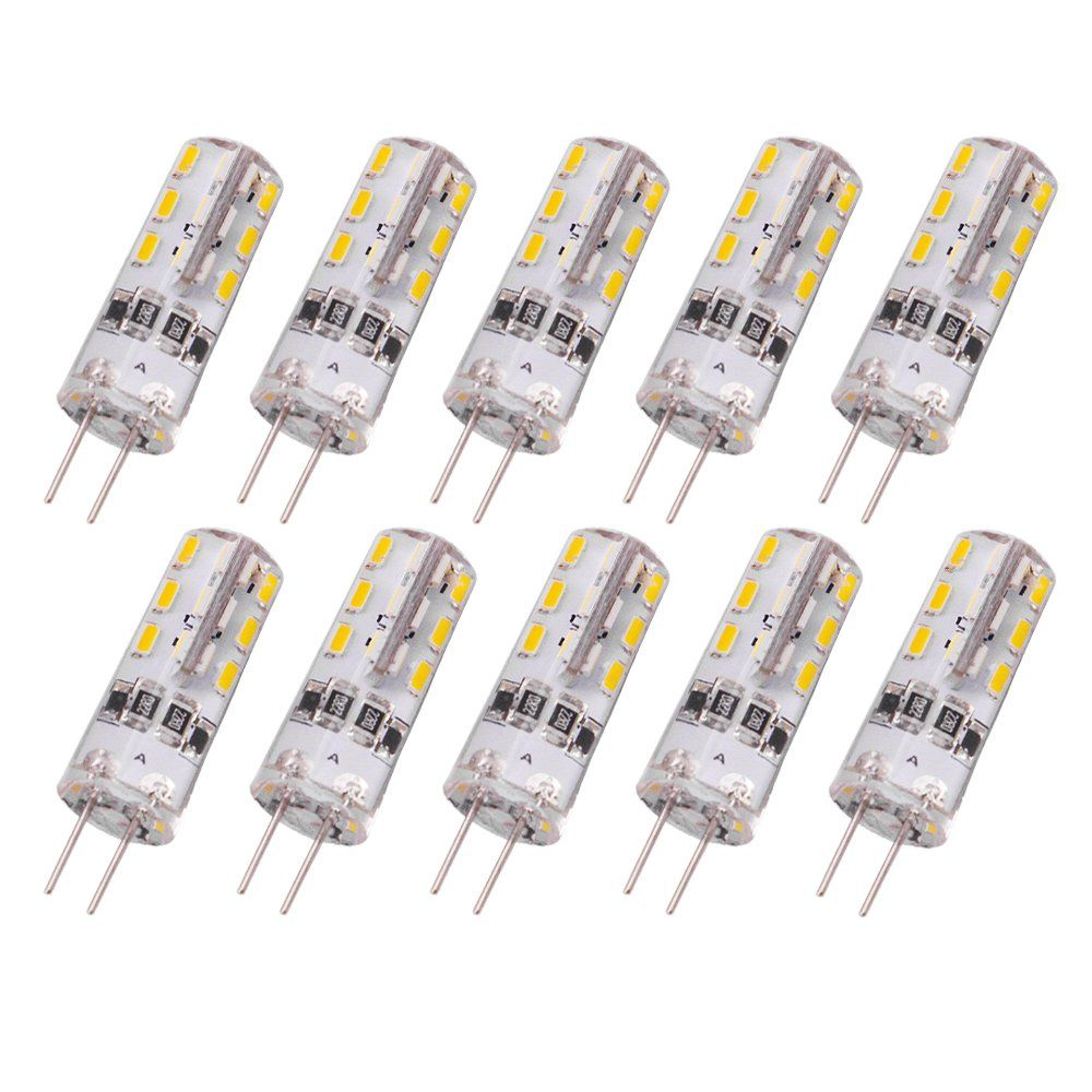 Rayhoo 10pcs G4 Base 24 Led Light Bulb Lamp 1 5 Watt Dc 12v Warm White Undimmable Equivalent To 10w T3 Halogen Track Led Light Bulb Light Bulb Lamp Light Bulb