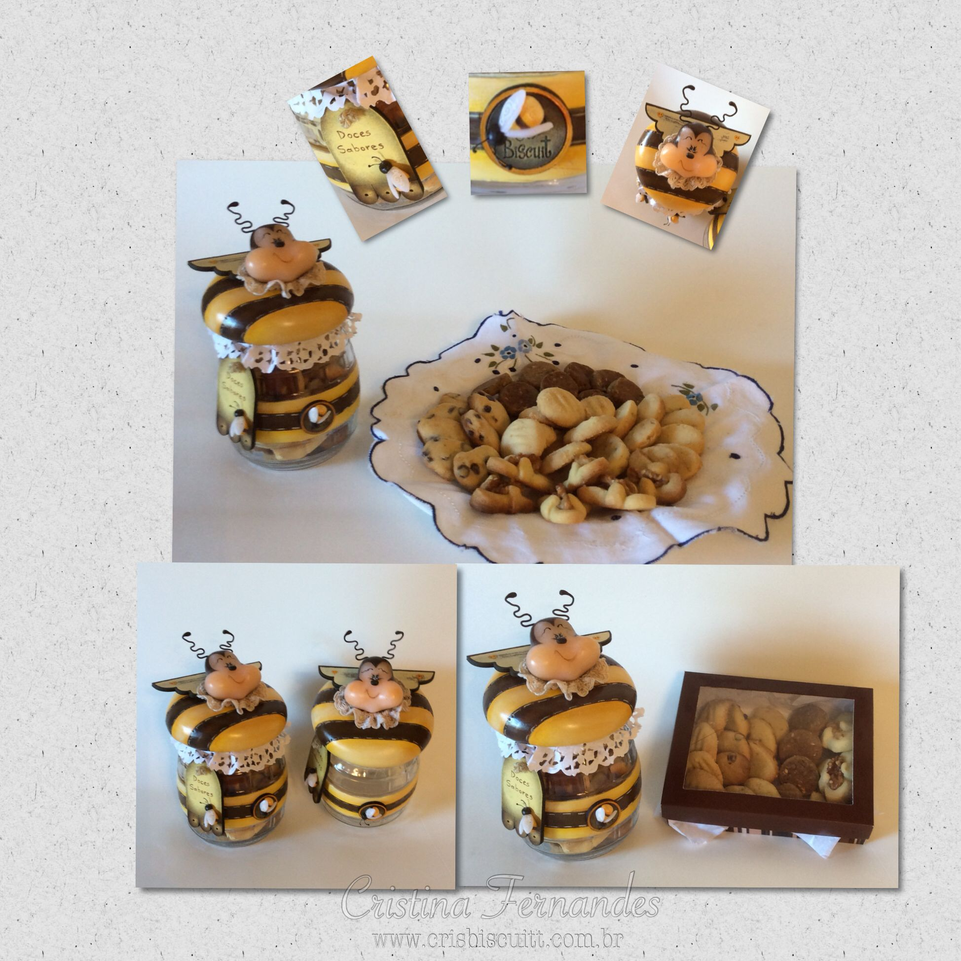 Pote Doce Abelha www.crisbiscuitt.com.br