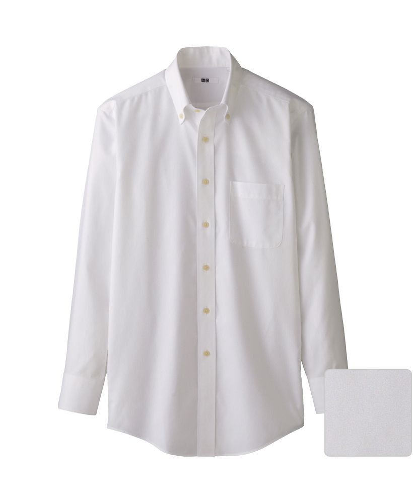 Uniqlo men super non iron long sleeve shirt f o r m