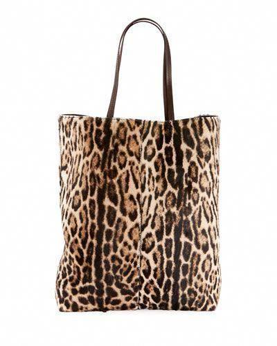 Saint Laurent Leopard-Print Hair Calf Tote Bag  Designerhandbags   leopardprinthandbags e9cd6d2f1e64d