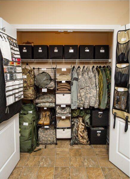 Military Man Cave Decor : The organized closet for military hubby