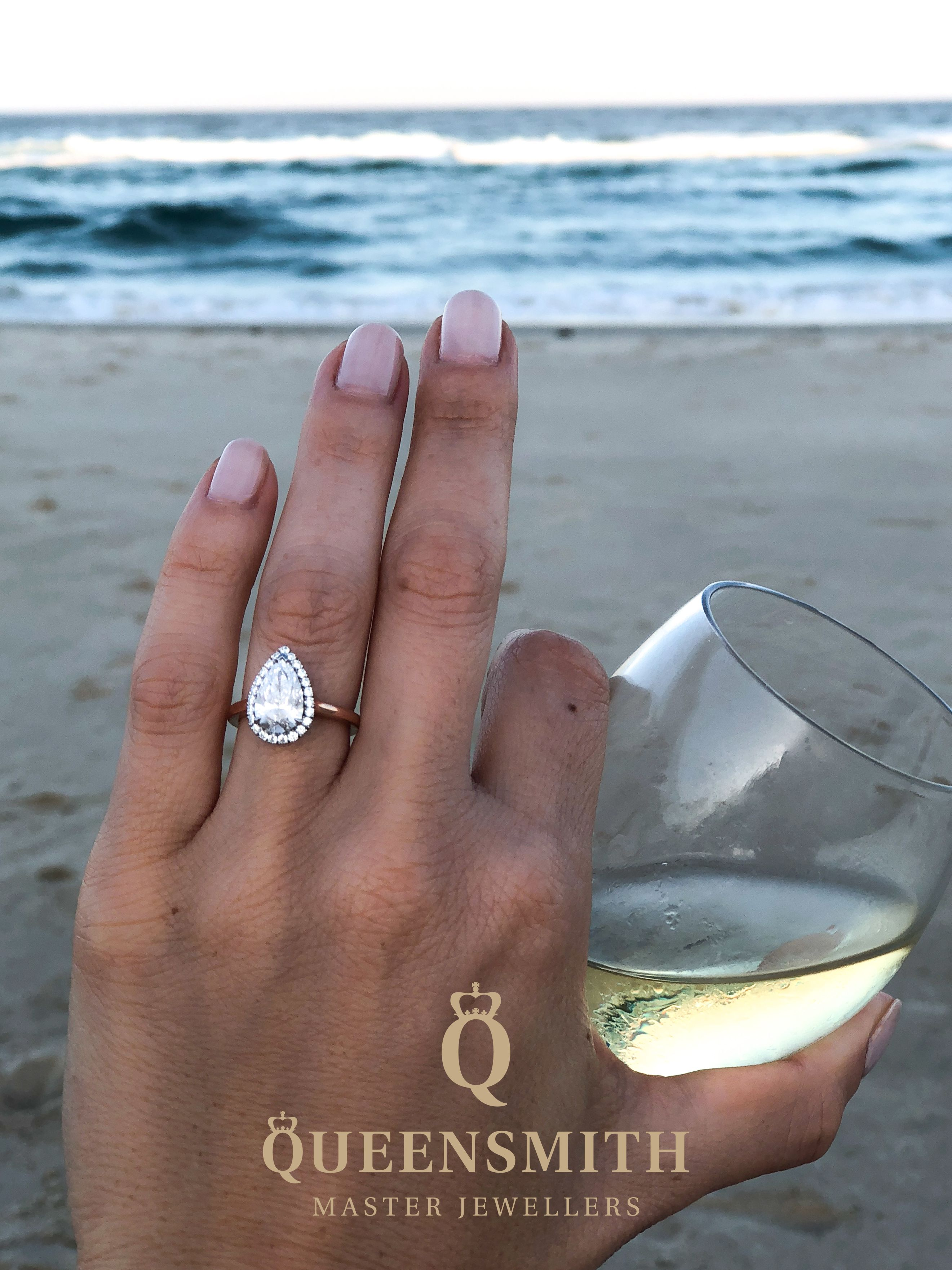 Find The Perfect Engagement Ring With Queensmith Master Jewellers Based In Hatto Pear Engagement Ring Halo Pear Diamond Engagement Ring Pear Engagement Ring