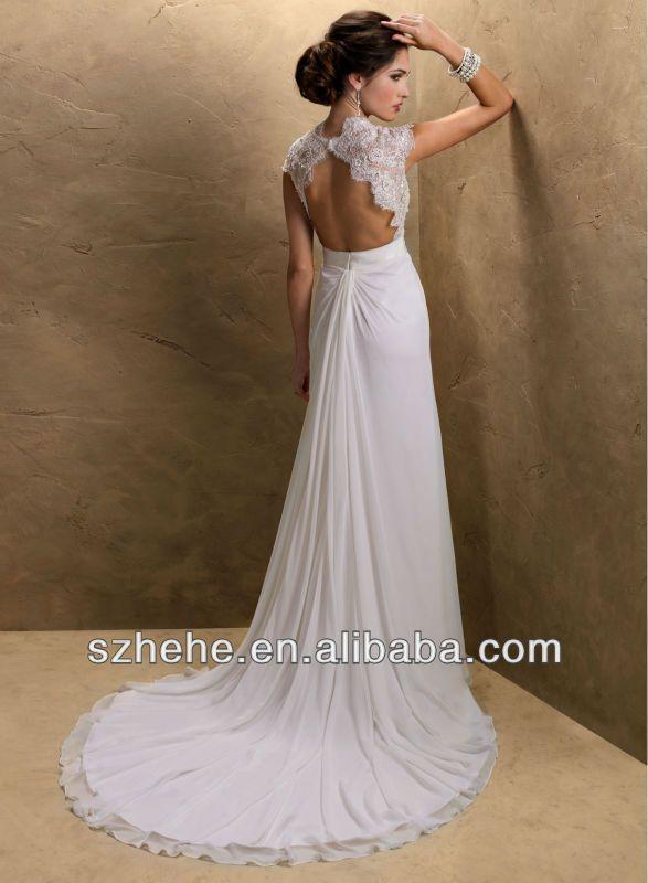 Form-Fitting Backless Wedding Dresses