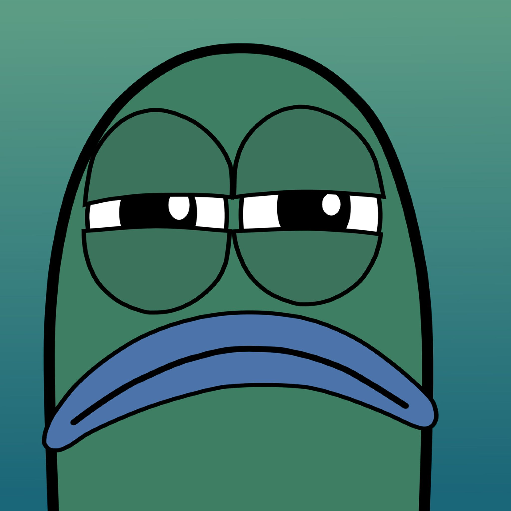 Sad Funny Cute Plankton Face! Tap to see more simple