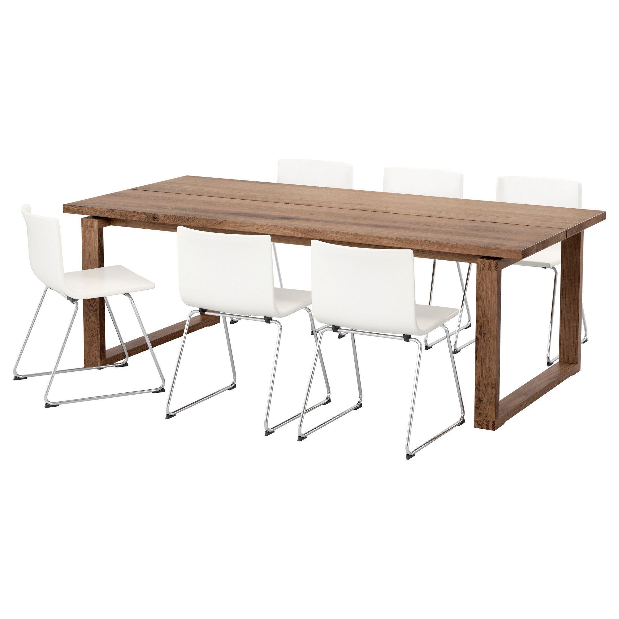 Ikea M 214 Rbyl 197 Nga Bernhard Table And 6 Chairs Brown