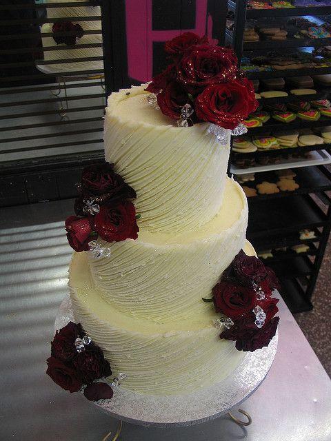Wicked Chocolate Wedding Cake Iced In Spanish Textured White