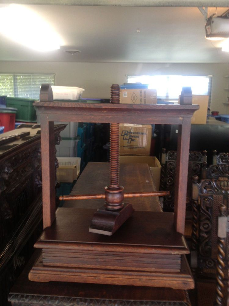 Antique Wood Press Wooden Thing