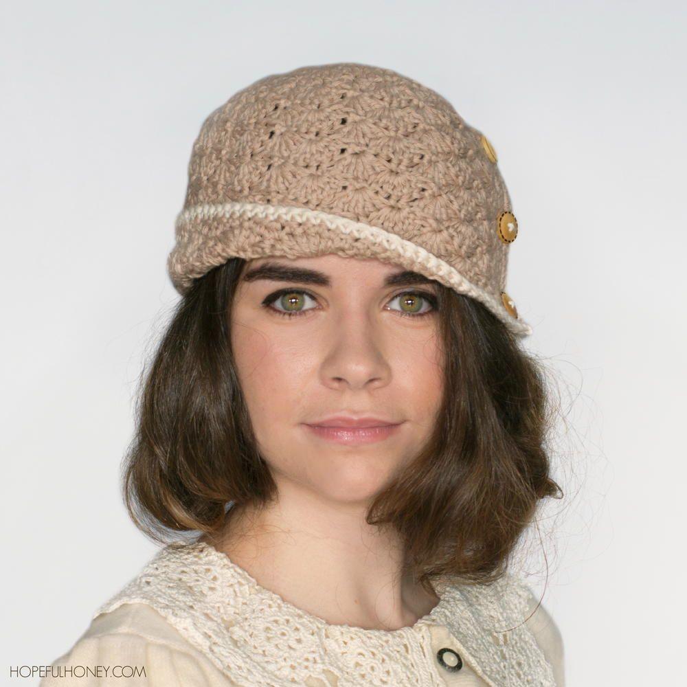 1920 Caramel Crochet Cloche Hat | Cloche hats, Caramel and Crochet