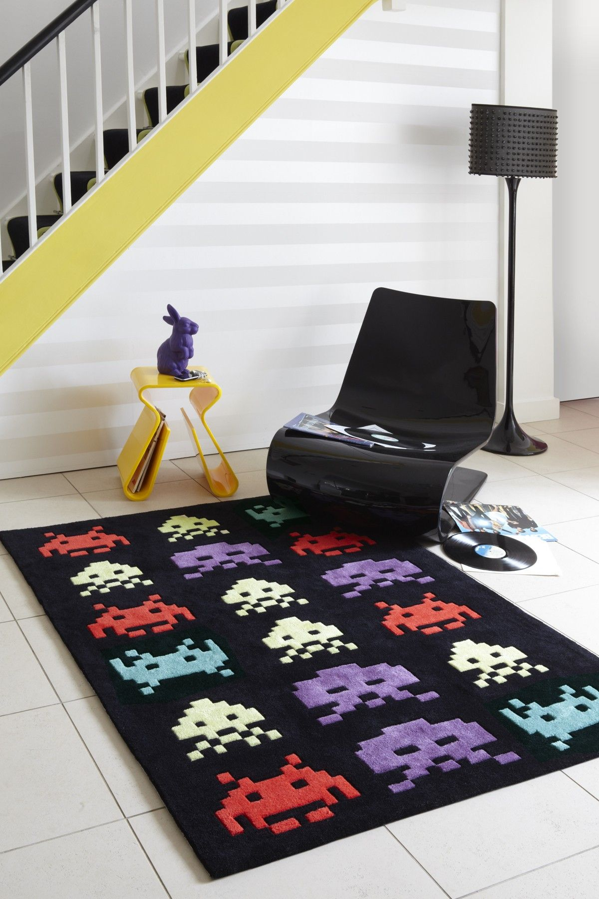 beauticious fluffy rug  space invaders fandom and spaces - fans