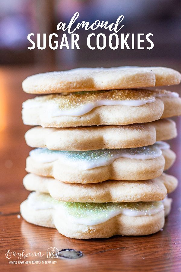 Almond sugar cookies are a fun twist on classic soft sugar cookies. Cut out your favorite shapes and decorate with an easy sugar cookie icing.#almondsugarcookies #sugarcookiessoft #sugarcookieicing #sugarcookieseasy #sugarcookierecipe #almondsugarcookierecipe #sugarcookiecutouts