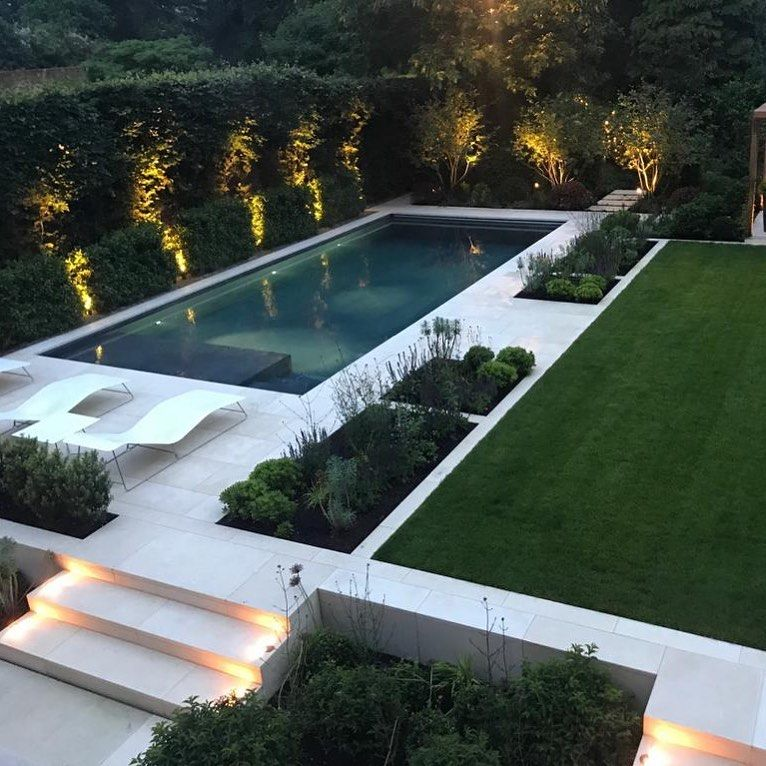 Charlotte Rowe On Instagram Another Recentlycompleted Garden In Surrey Dark Swimmingpool The Only Way Dream Pool Indoor Modern Landscaping Modern Pools