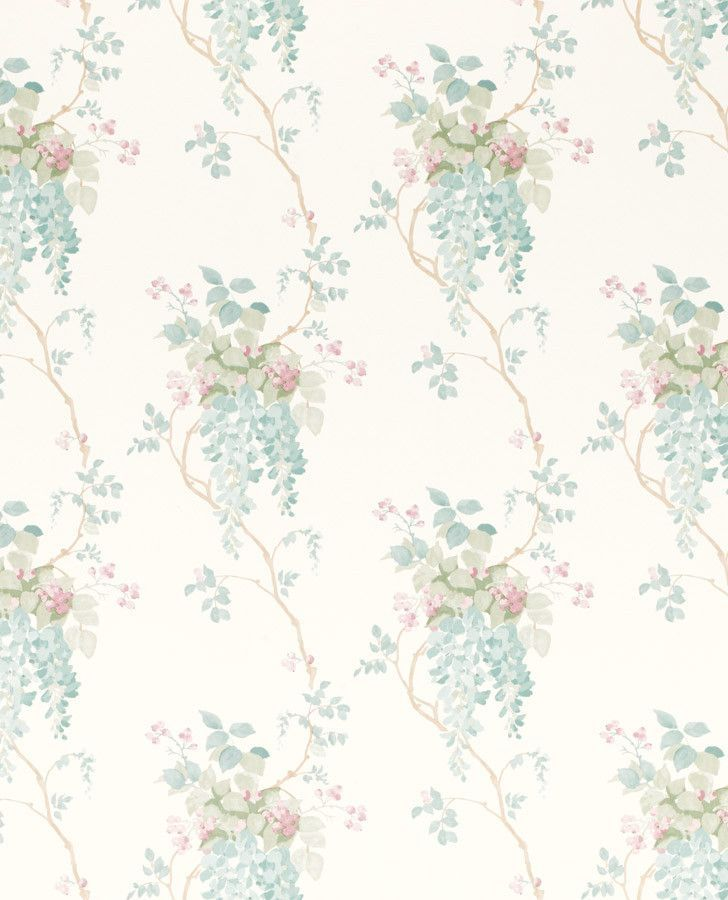 Wisteria Duck Egg/ Pistachio Floral Wallpaper | Floral Wallpapers, Laura  Ashley And Wisteria