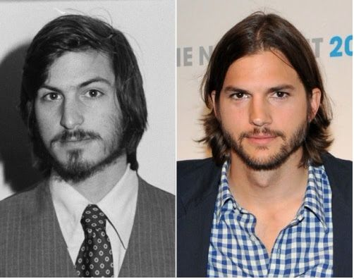 Ashton Kutcher (right) will star in a new movie about Steve Jobs - jobs that are left