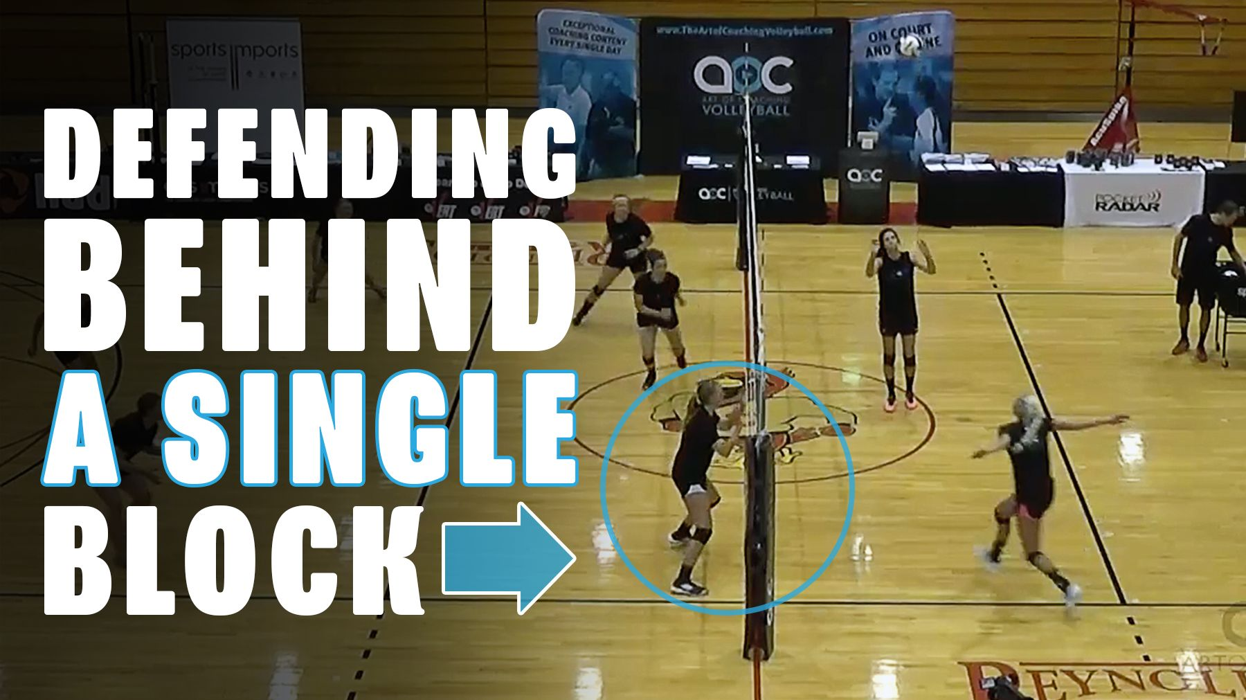 Defending Around A Single Block The Art Of Coaching Volleyball Volleyball Drills Volleyball Volleyball Conditioning
