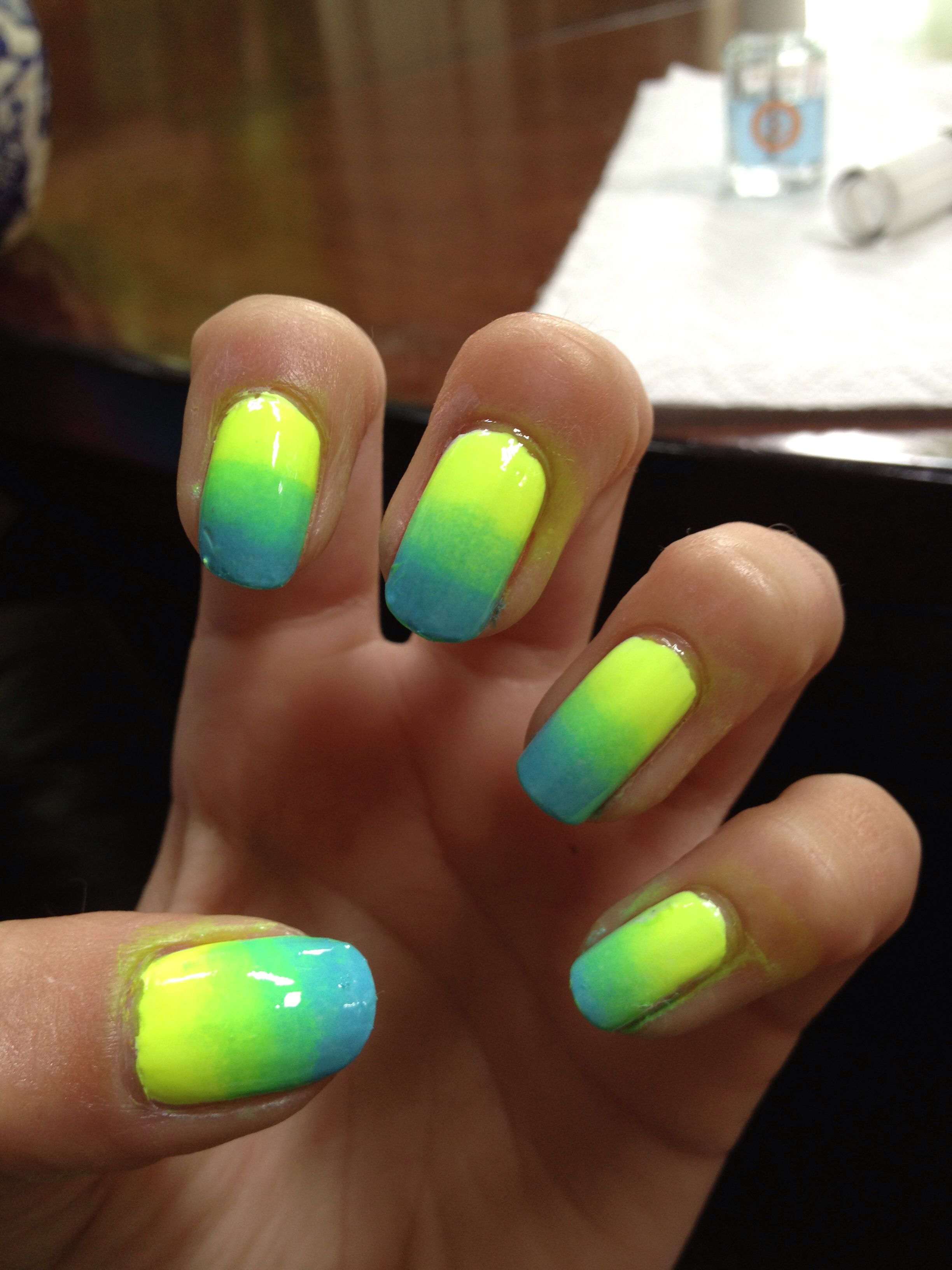 Blue And Yellow Nail Designs Nail Art Ombre Ombre Nail Art Designs Glitter Nail Art