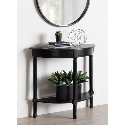 Canora Grey Orton Half Moon Wood Console Table Entryway Console Table Half Moon Console Table Console Table