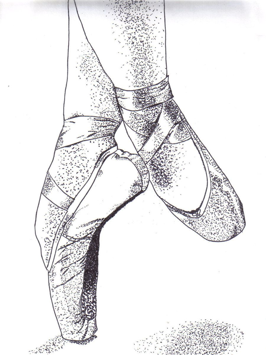 Pointillism Coloring Pages | ballet shoes pointillism by view large ...
