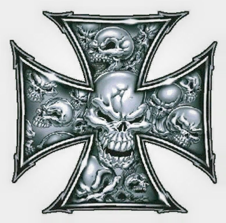 SKULLS INSIDE AN IRON CROSS | Skulls | Pinterest