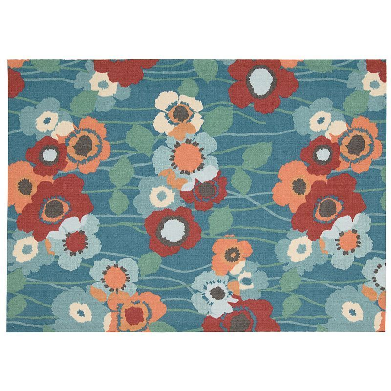 Waverly Sun N Shade Pick A Poppy Floral Indoor Outdoor Rug