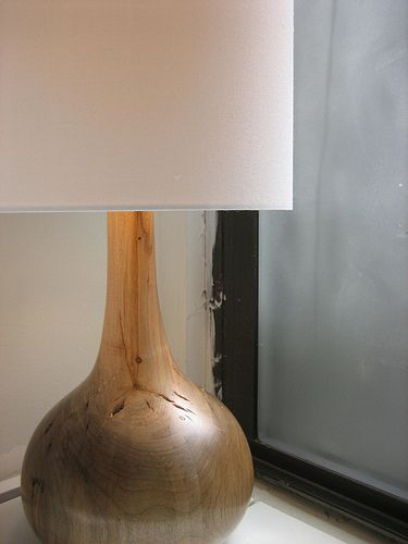 Salvaged Wood Hand Turned Lamp By Blightdesign Oak Lamp Wood Lamps Wooden Lamp Base