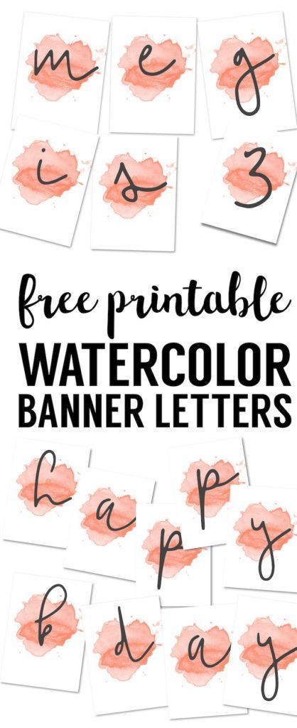 coral watercolor banner free printable customize this watercolor banner template for a baby shower wedding bridal shower birthday party classroom