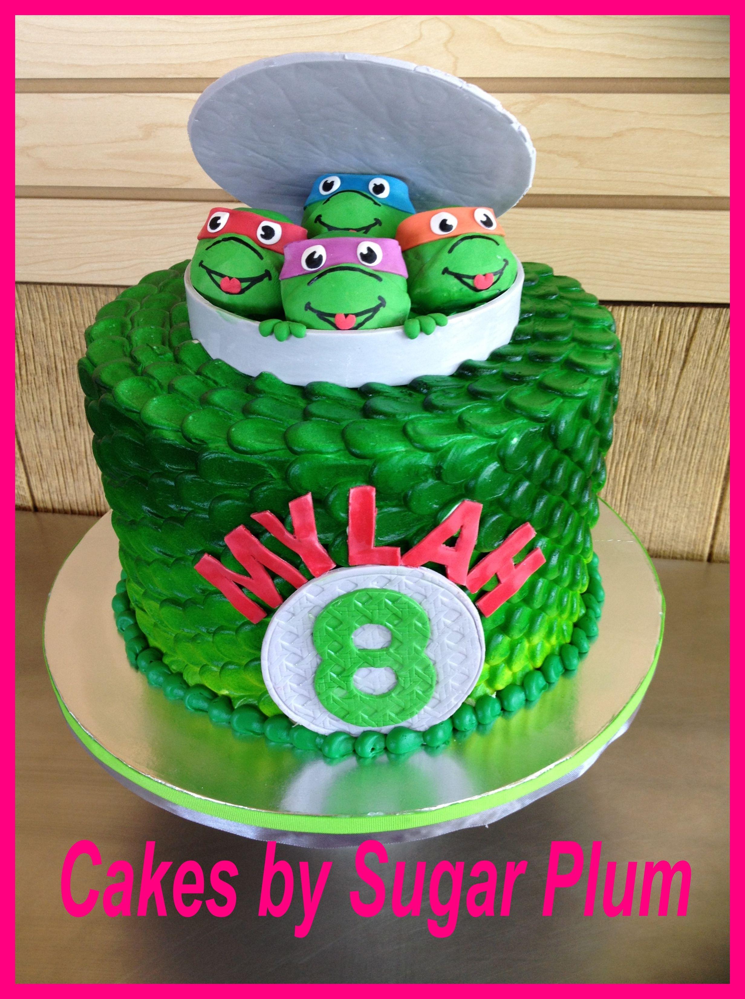 Ninja Turtle Cake Ninja Turtles Birthday Party Bday Party Kids