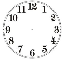 Free Printable Clock Patterns Clock Face 2 Pdf Look For Issue 53