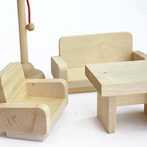 Freda Möbelset Puppenmöbel Puppenhausmöbel Für Puppenhaus Freda Holz 28  Teile