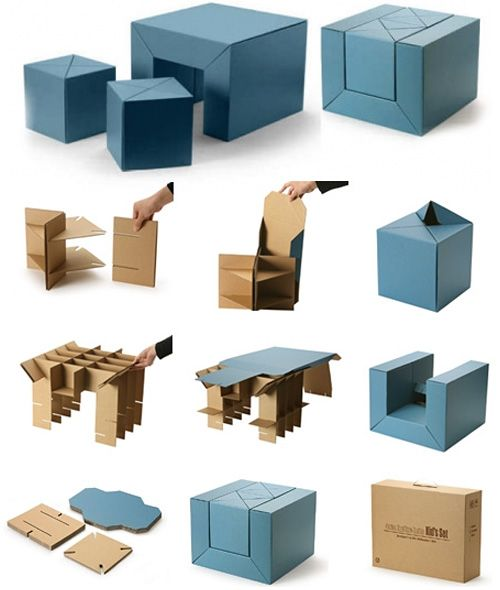 Cfs Furniture Set A Cardboard Table And Stool Combo For Kids Looks Fun This So Much