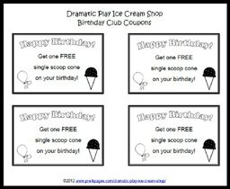 graphic about Ice Cream Coupons Printable called Remarkable Perform Ice Product Store Fake enjoy printables