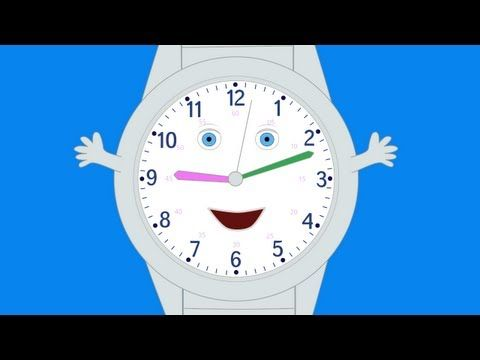 TELLING TIME VIDEO~ What's the Time? introduces hour, half hour, quarter hour, and five minute increments. (Approx. 2 min.)