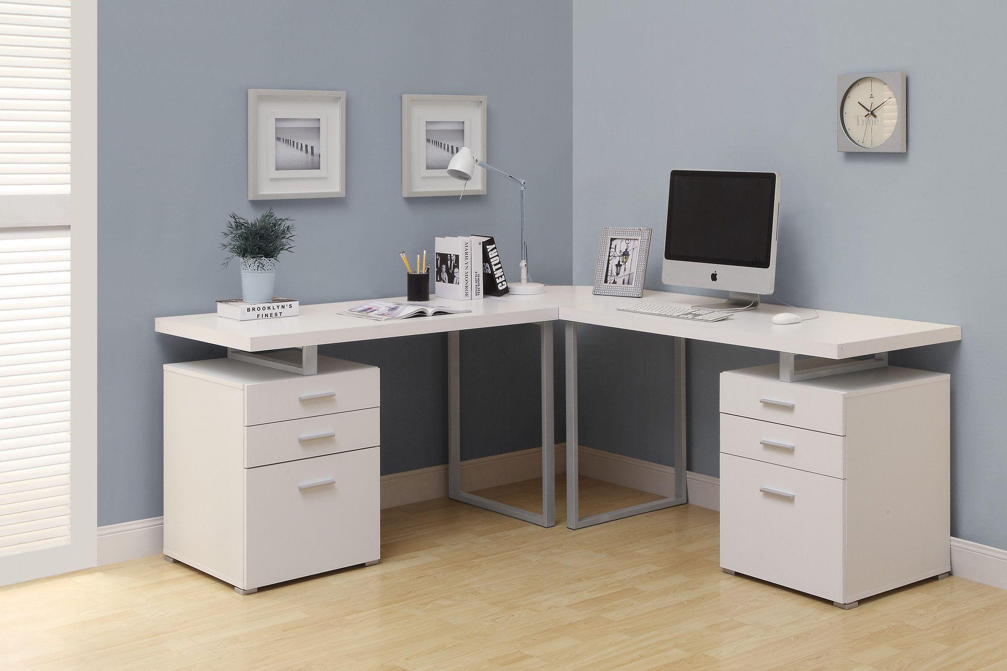 Computer Desk With 6 Drawers White Corner Desk Home Office Design White Desk Office