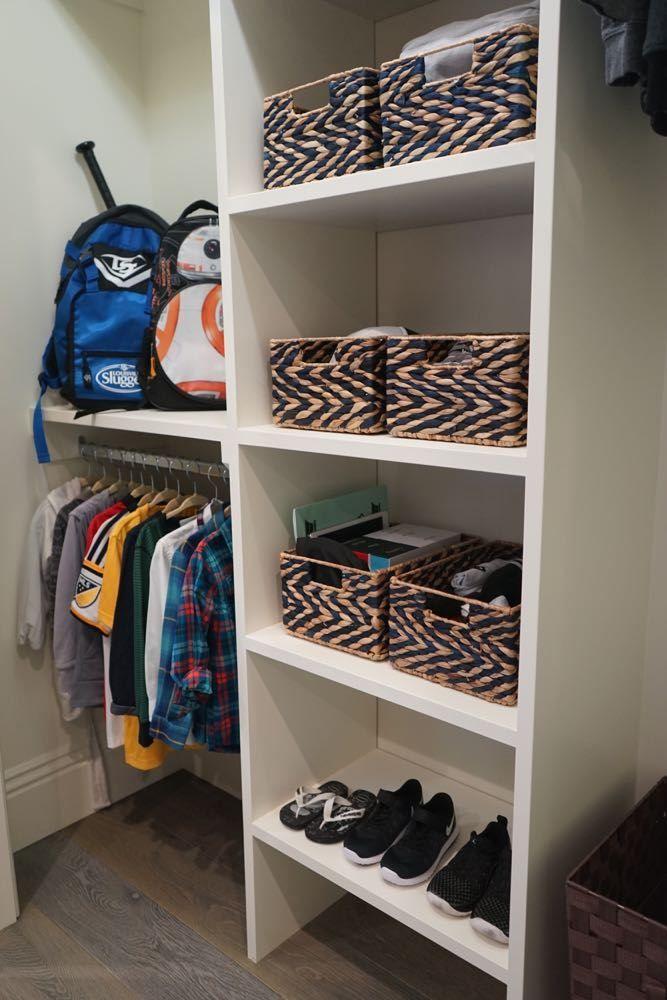 Organized Children S Closets 4 Times The Inspiration Kid Closet Simple Closet Closet Layout