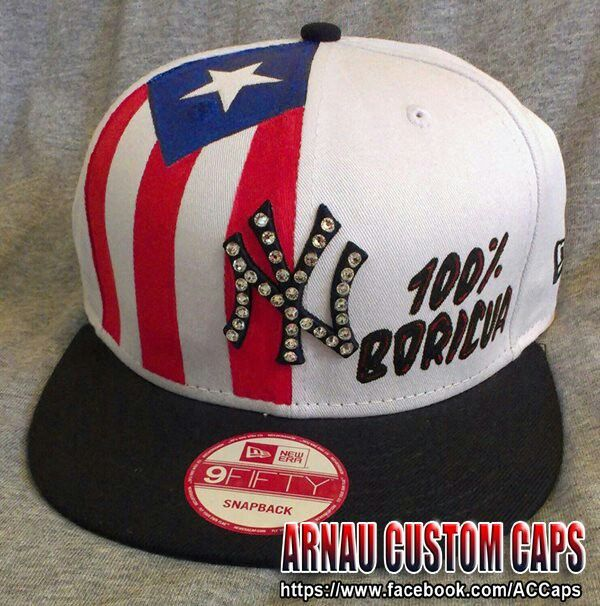 Boricua Hat Custom Caps Puerto Rican Pride Puerto Rican Flag