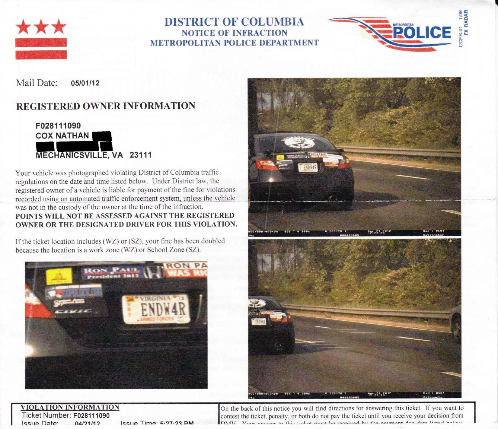 How Much Is A Red Light Ticket >> How To Beat A Photo Enforced Speeding Ticket Or Red Light
