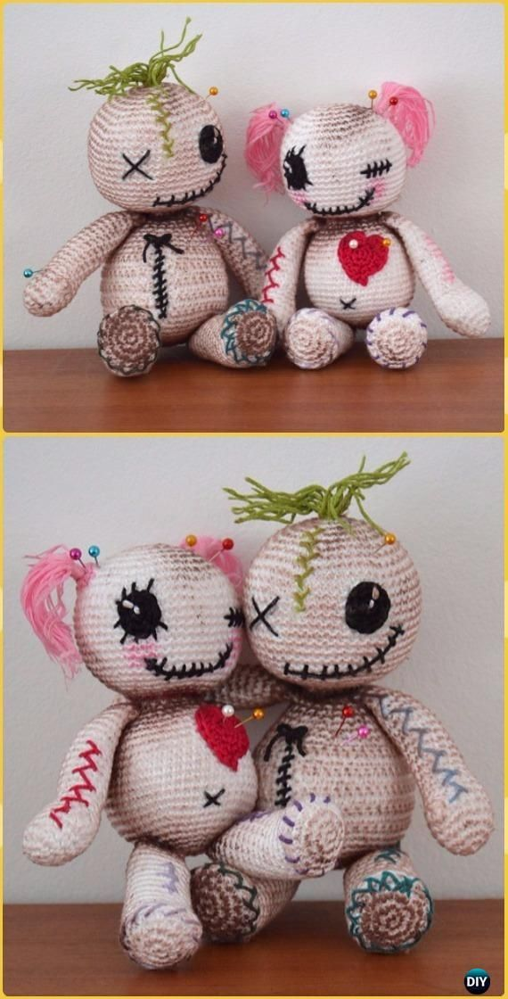 Crochet Voodoo dolls Free Pattern -Crochet Halloween Amigurumi Free ...