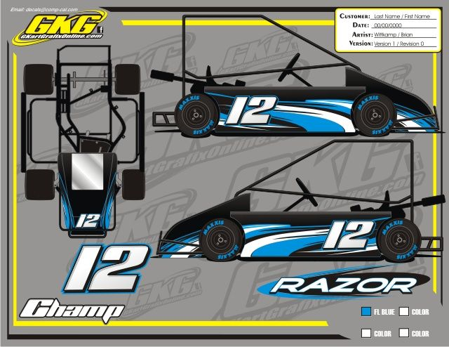 Champ Kart Wraps Graphics And Decals For Racing Go Karts Oval Flat Karts Go Kart Graphic Kit Champs