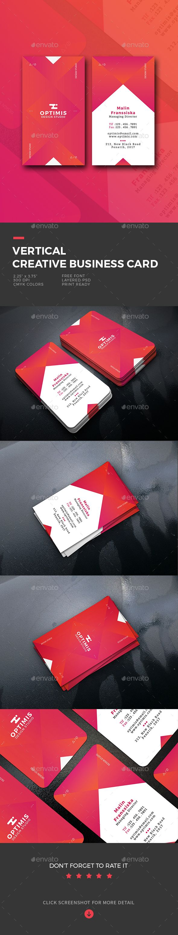 Vertical creative business card business cards print templates unique business cards reheart Image collections